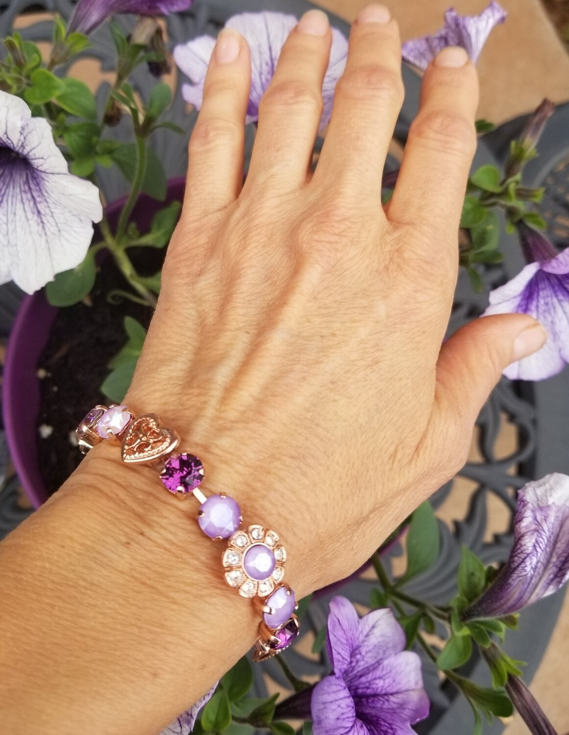 Rose Gold Devic Crystal LOVE Technology Bracelet/Quan Yin Devic Angels of the Lavender Flame $99.00/ $133.00 retreat sale