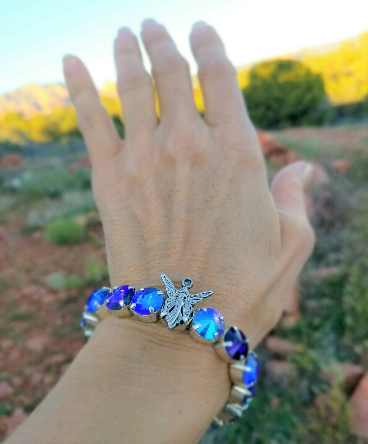 Devic Crystal LOVE Technology Bracelet/ Blue Ray Lemurian Fairy Language of light $99.00/$133.00 Fairy Retreat Sale