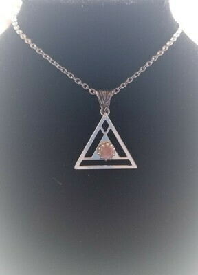 Sedona White light Pink Radiance of Love {Pyramid of Light Pendant}/May Day Sale $113/133.00
