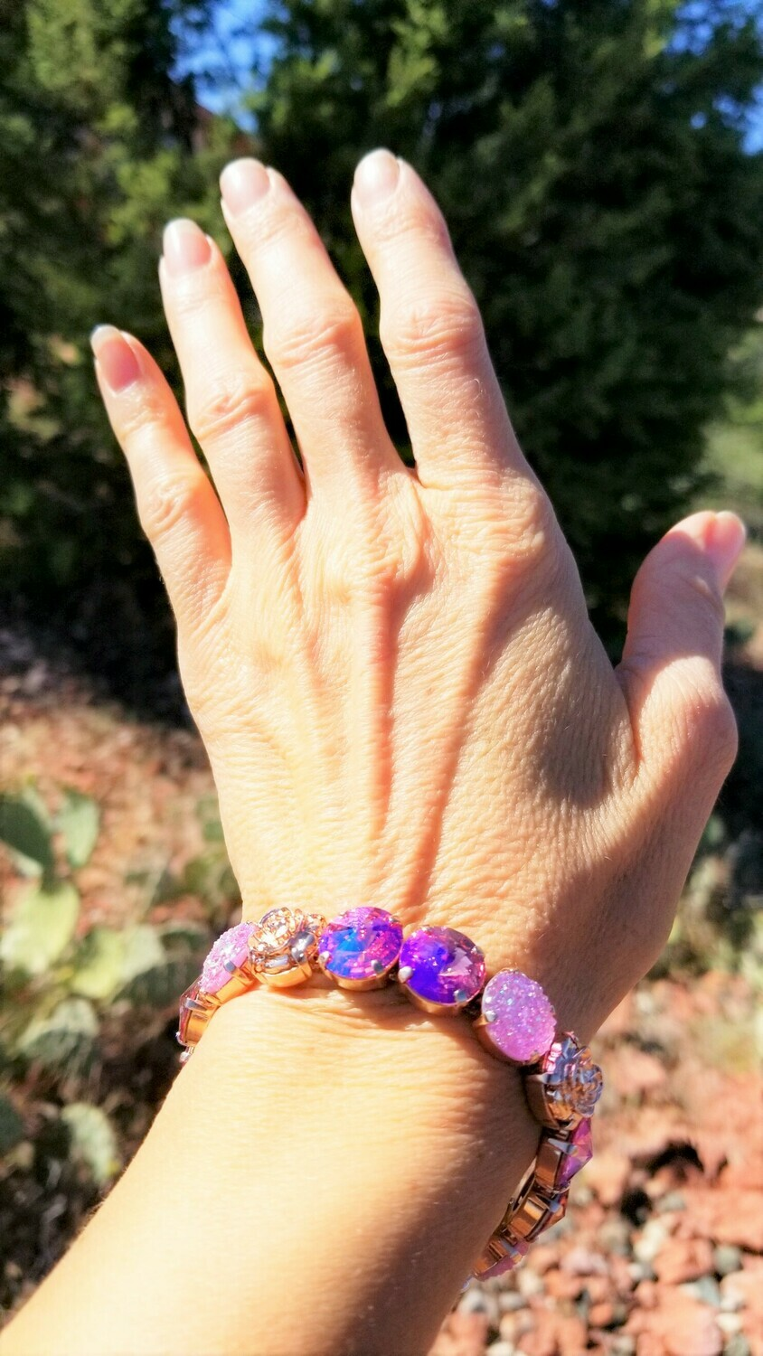 Devic Crystal LOVE Technology Bracelets/Sister of the Sacred Rose Priestess & Pink Ray Crystal Angels $113.00/ $144.00 retreat sale