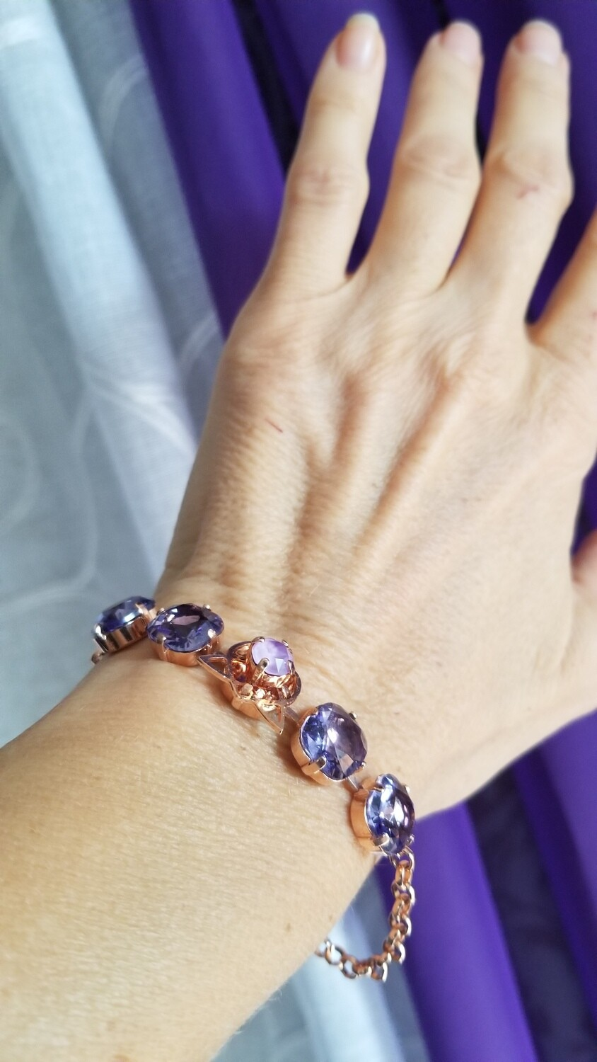 Stunning Violet Flame Protection Star of Lady Portia/ Devic Crystal LOVE Technology Bracelet/$144.00/188.00/CV Retreat Sale
