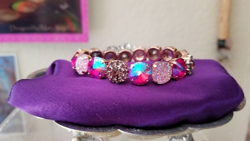 One Devic Crystal LOVE Technology Bracelets/Sister of the Sacred Rose Priestess Mother Mary heart lineage $113.00/ $144.00 retreat sale