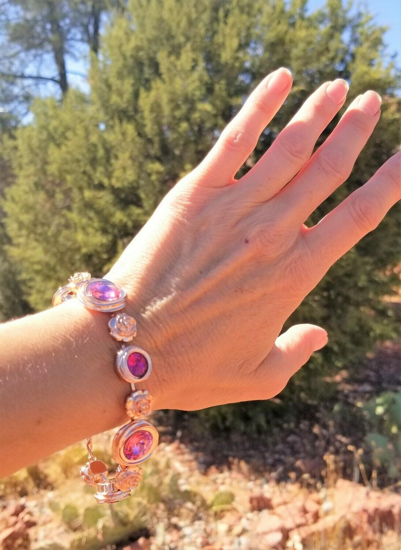 Gorgeous Rose Ray Soul Portal Bracelet/Devic Crystal LOVE Bracelet 213/255.00 Retreat Sale