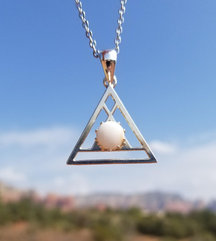 Sedona White light Crystal {Pyramid of Light Pendant}/ Retreat Sale $133/213.00