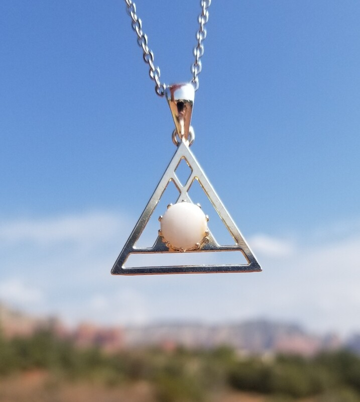 Sedona White light Crystal {Pyramid of Light Pendant}/ Retreat Sale $133/213.00