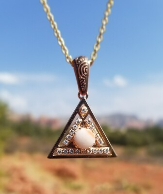 Sedona Crystal  {Pyramid of Light Pendant} White light Vortex Crystals Day Sale $133/$213.00 retreat sale