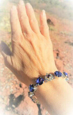 Stunning Violet Flame Star of Lady Portia/Devic Crystal LOVE Technology Bracelet $188/$244 Retreat Sale