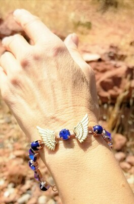 Beautiful Goddess Isis Gold Wings of Light/Devic Crystal LOVE Technology Bracelet$188.00/244.00 Retreat Sale