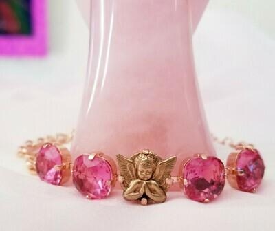 Beautiful Rose Ray Guardian Angel/ Devic Crystal LOVE Technology Bracelet/$144.00/188.00/CV Retreat Sale