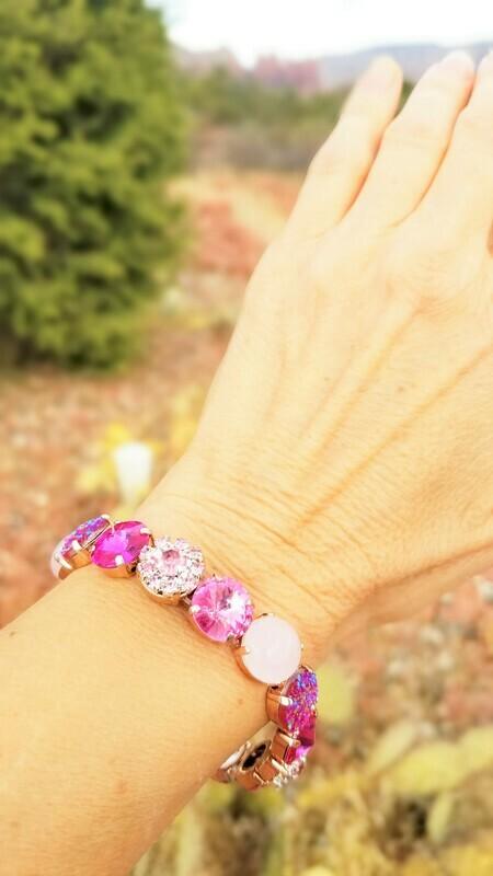 Stunning Rose Quartz Angels Sisters of the Sacred Rose Priestess/Devic Crystal LOVE Technology Bracelets $133.00/ $213.00 retreat sale