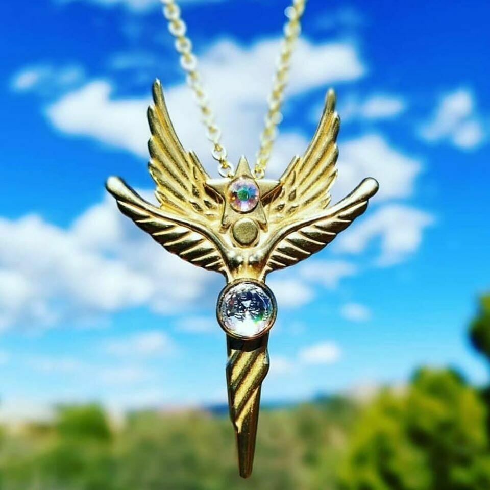 Beautiful Sedona Angel  Peace Star Gold Copper/Retreat Angel sale$213/$244.00