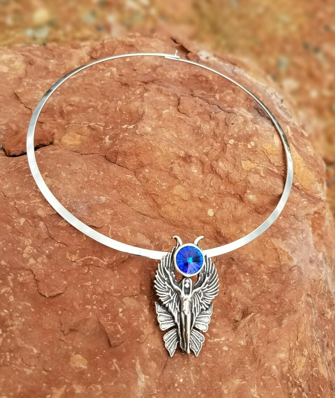 WA HE AH Sterling Silver/Goddess Fairy Angel Deva/Retreat Fairy sale$244/$313