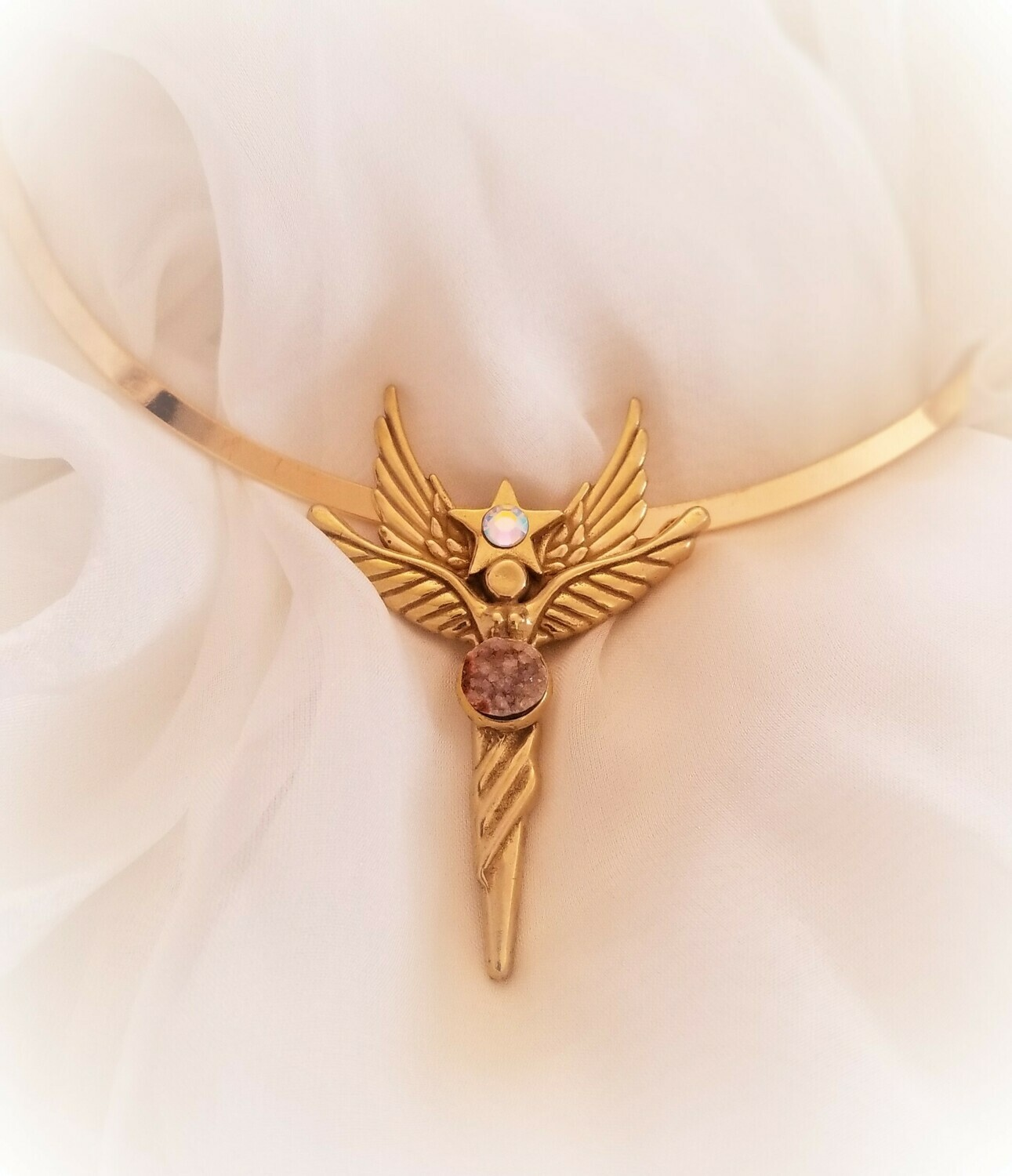 Beautiful Sedona World Peace Gold Star Angel/Angel sale $244.00/288.00