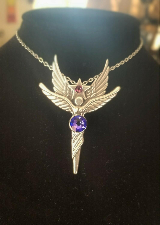 Enchanting Sedona Star Angel Sterling Silver Purple Violet Crystal Retreat Angel sale$213/$244.00