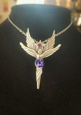 Enchanting Sedona Star Angel Sterling Silver Purple Violet Crystal Retreat Angel sale$213/$244.00