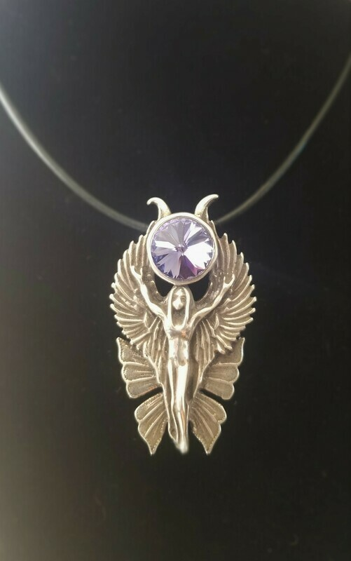 WA HE AH Sterling Silver/Goddess Fairy Angel Deva/Retreat Fairy sale$244/$313