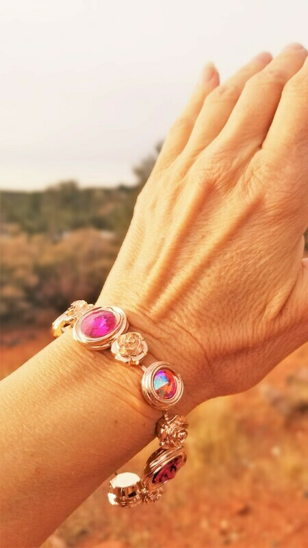 Gorgeous Rose Ray Soul Portal Bracelet/Devic Crystal LOVE Bracelet 188/255.00 Sister Rose Retreat Sale