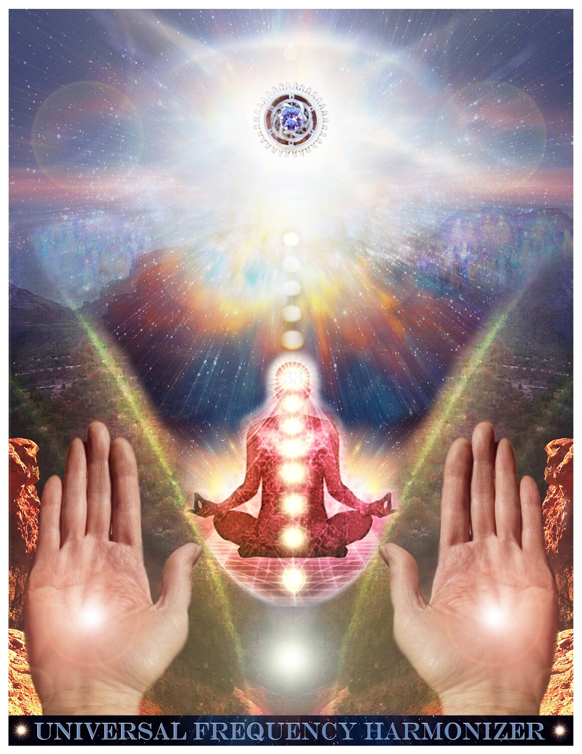 Universal Frequency Harmonizer ~Holy Sun Tones meditation Activation  Activator & Crystal Grid ~Direct Download Sale $15/$22.