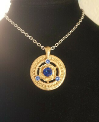 Gold Blue Ray/Universal Frequency Harmonizer Pendant Sale 288.00/$313