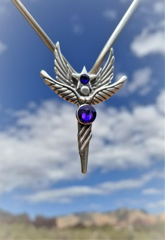 Enchanting Sedona Star Language of Light Angel/Purple Blue Violet Angel sale$213/$244.00