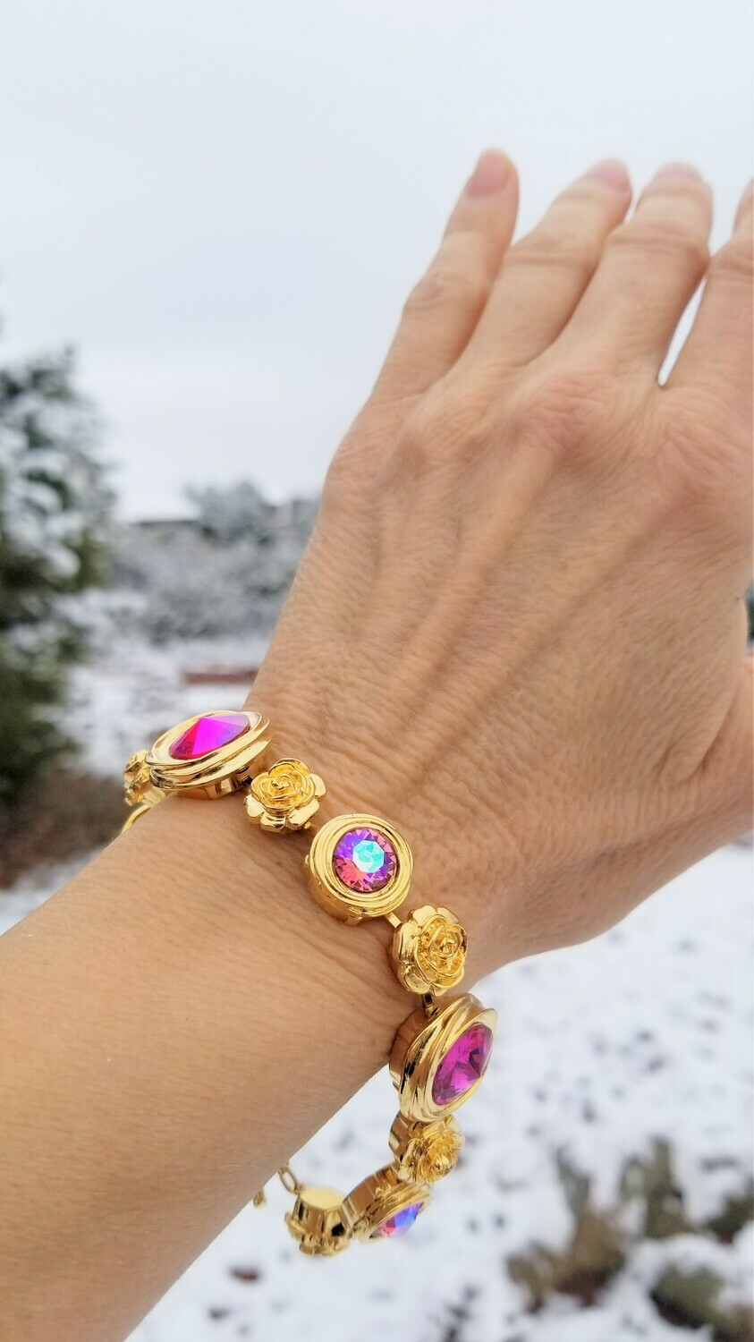 Gorgeous Gold Rose Ray Soul Portal Bracelet/Devic Crystal LOVE Bracelet 188/255.00 Sister Rose Retreat Sale