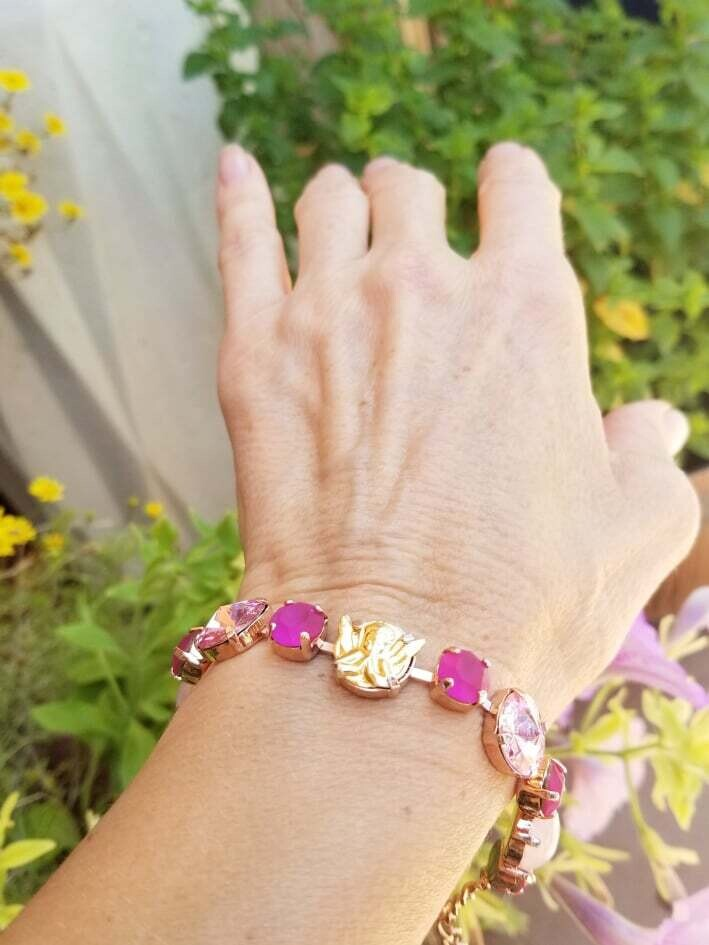 Beautiful Rose Ray Guardian Angel/ Devic Crystal LOVE Technology Bracelet/$144.00/188.00/Angel Sale