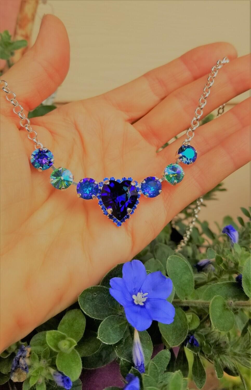 Blue Ray Heart Radiance Healer Priestess Divine LOVE pendant & Necklace $133.00/$244.00 {Goddess 13th day sale}