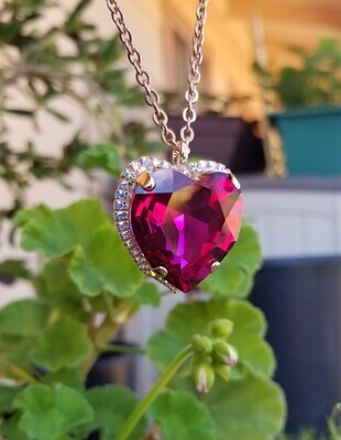 Rose Heart Radiance Pendant $188.00