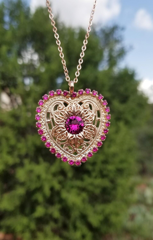 Heart Awakened Activator Rose codes pendant/Rose Priestess Sale 144.00/188.00