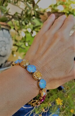 Gorgeous  Mother Mary New Earth/Devic Crystal LOVE Technology Bracelet $155.00/188.00 Goddess sale