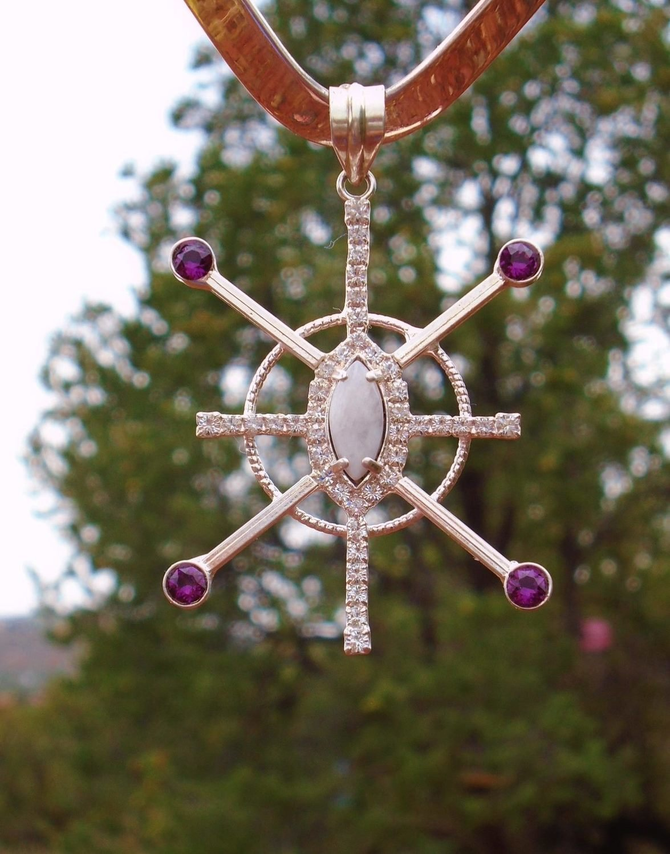 Violet Star Resonator Source Filed Connector Sedona White Light Crystal