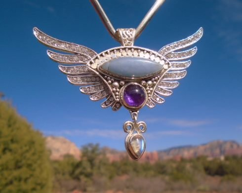 Sale $388/$555.00 Beautiful Goddess Isis Priestess Wings of light Archangels