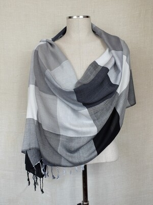 VC Black, White & Grey Shawl