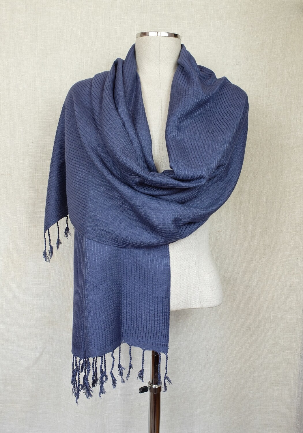 Dafayer Grey Blue Shawl