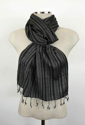 Black & White Stripes Small Scarf