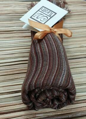 Brown Thin Stripes Small Scarf