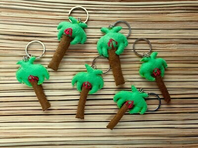 Palm Keychain Apple Green