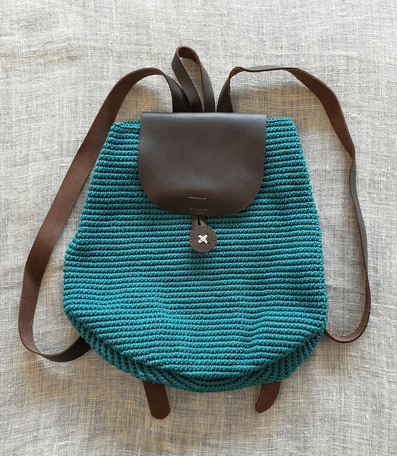 Small Backpack: Turquoise-Teal
