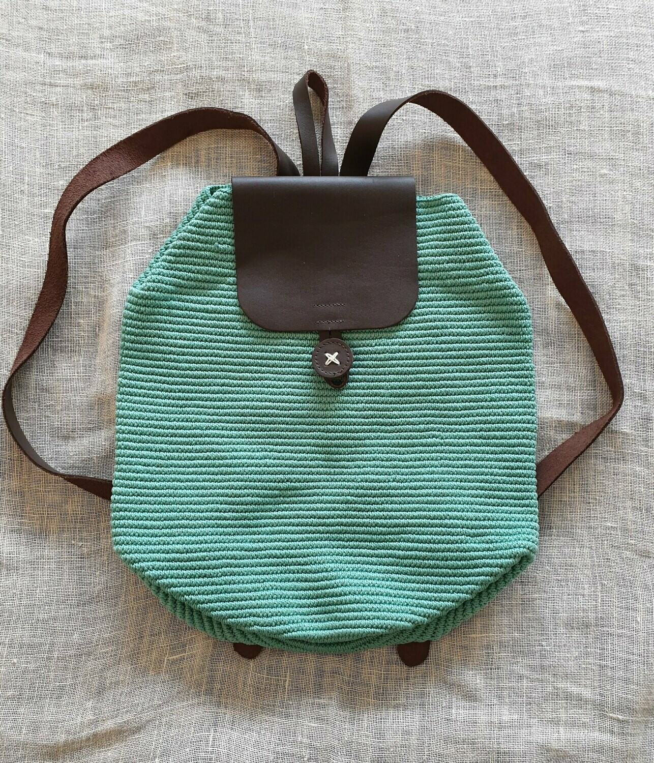 Large Backpack: Light Turquoise