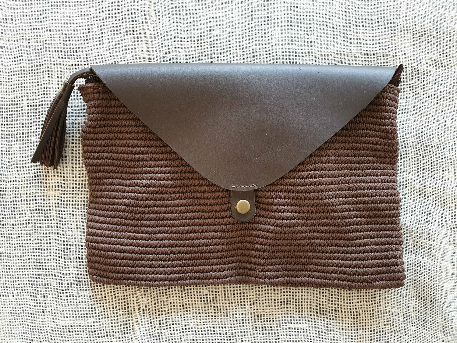 Clutch Bag: Chocolate Brown