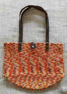 Shoulder Bag: Orange Mix