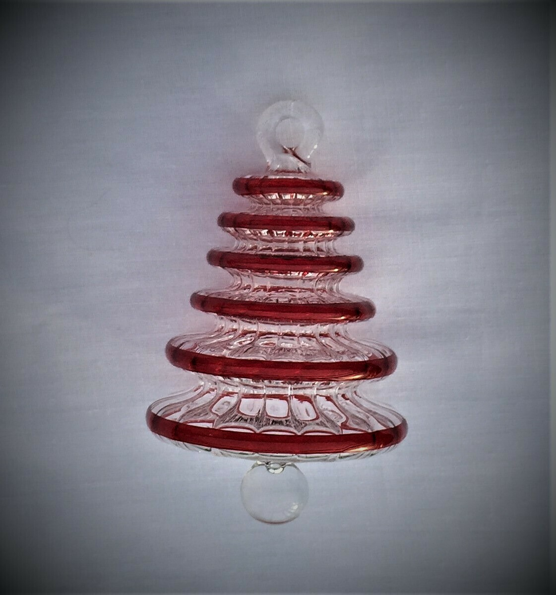 Red Tree Glass Ornament