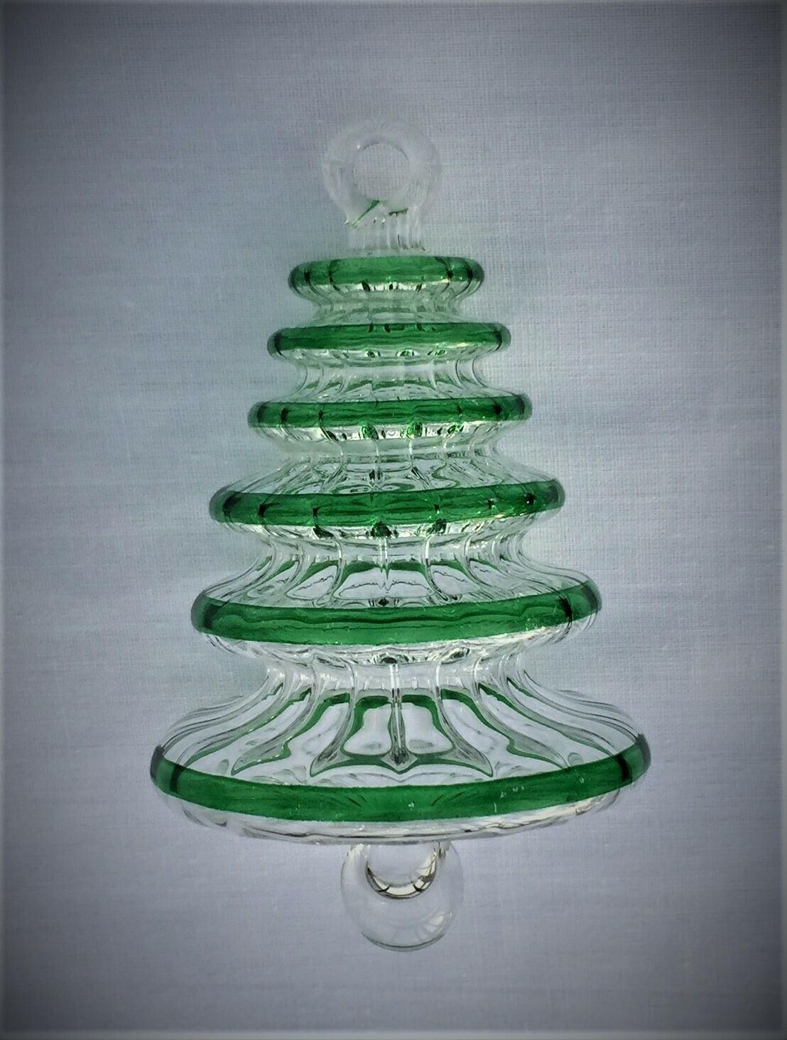 Tree Glass Ornament Green