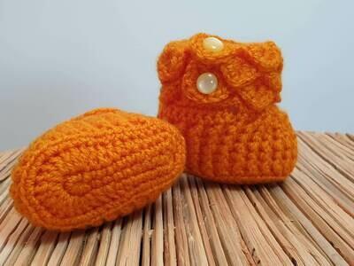 Baby Booties (Orange)