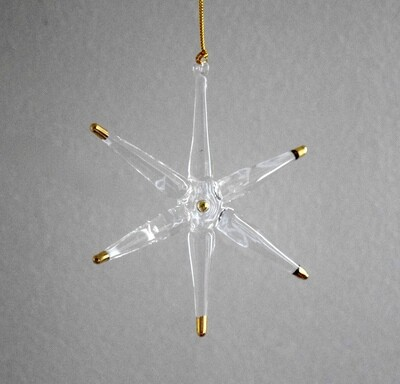 Star Transparent with Gold Tips