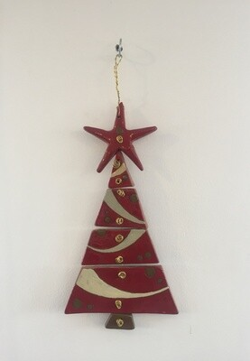 Ceramic Christmas Tree Red