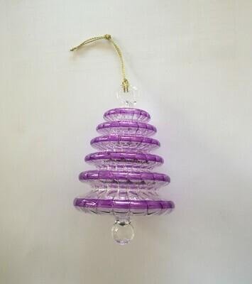 Tree Glass Ornament, Purple