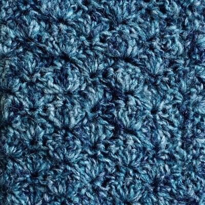 Mini Blanket: Blue/Navy Mohair