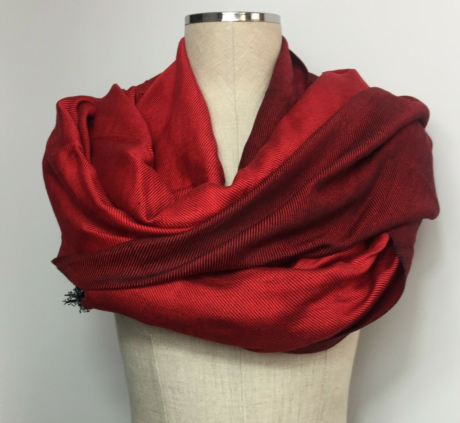 Doubleface Shawl  Red x Black