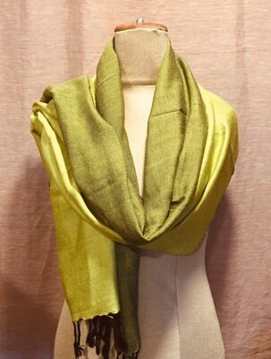 Doubleface Shawl Bright Yellow & Black, Viscose